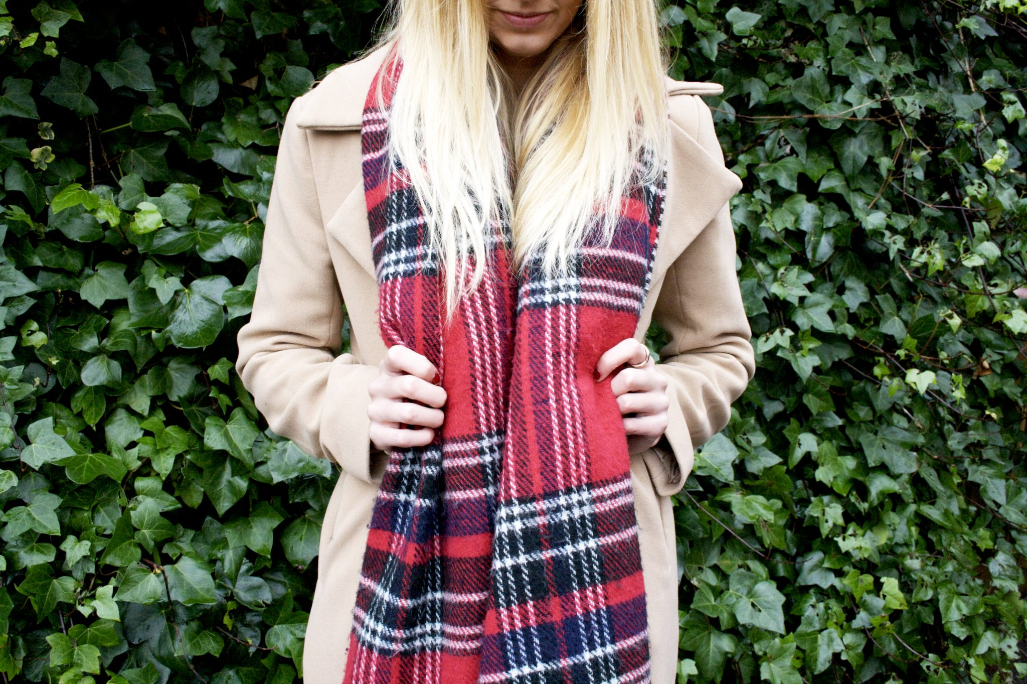 Missguided camel waterfall coat, primark blanket scarf, blonde hair. Manchester based lifestyle and fashion blogger. blog