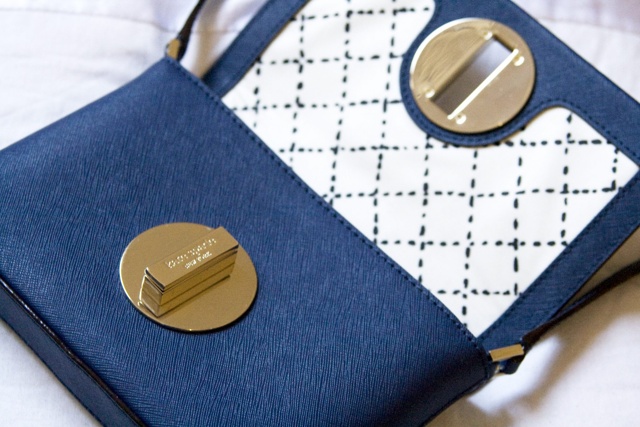 Kate Spade Sally Crossbody Handbag Purse Midnight Blue. Manchester based lifestyle and fashion blogger. Orlando, Florida.