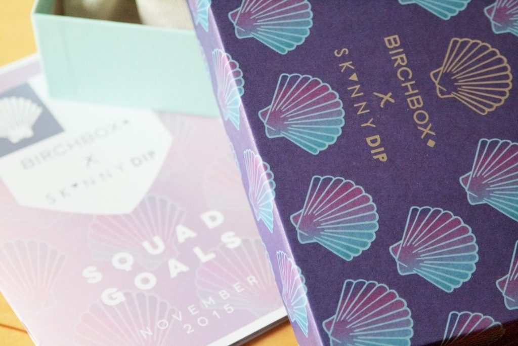 November Birchbox Review - Birchbox X Skinnydip London collab. Subscription box uk review. Shell, Mermaid. Manchester based fashion and lifestyle blog - laura kate lucas. Squad Goals.