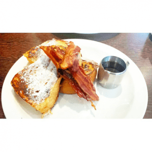 Moose Coffee - maple bacon and french toast.