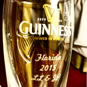 Guinness glass personalised
