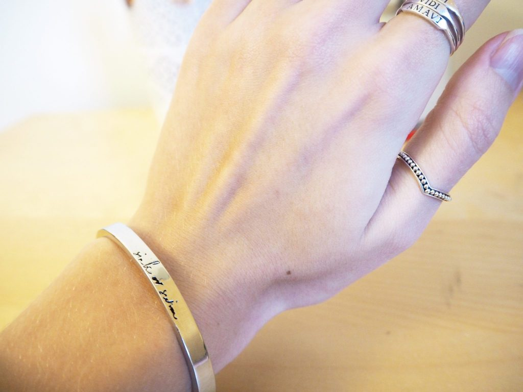 Silver Bracelet - Dixi Jewellery. Sink or Swim logo