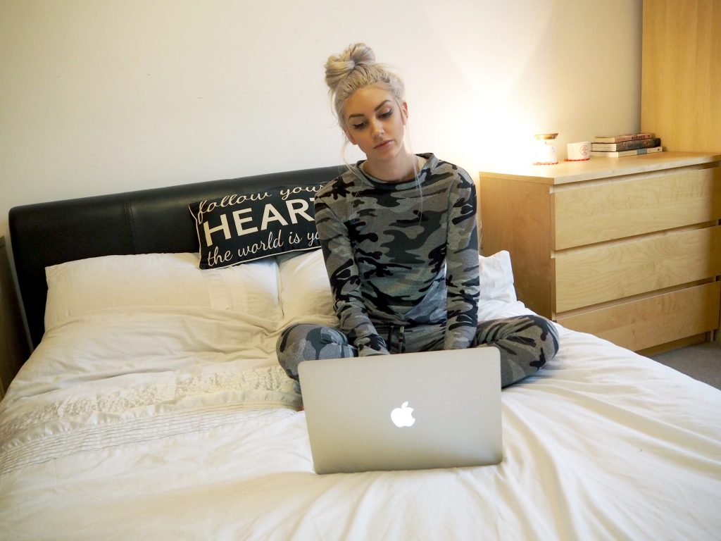 Missy Empire Khaki Camo Print Loungewear Co-ord Set | Laura Kate Lucas - fashion beauty and lifestyle