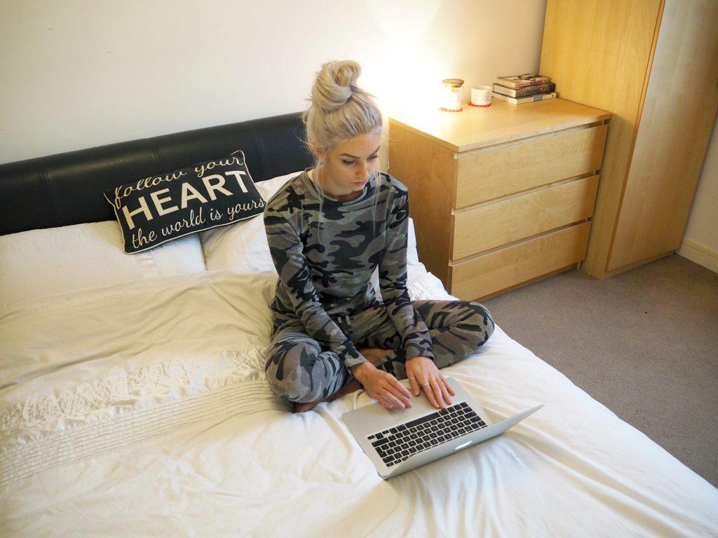 Missy Empire Khaki Camo Print Loungewear Co-ord Set   Laura Kate Lucas - fashion beauty and lifestyle