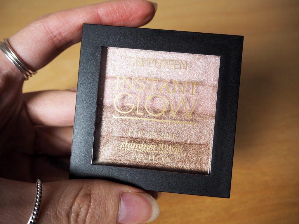 Seventeen Instant Glow Highlighter Palette - Bobbi Brown Shimmer Brick Dupe