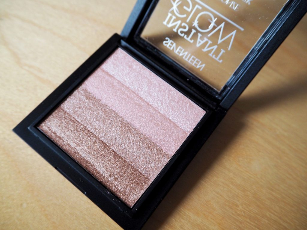 Seventeen Instant Glow Highlighter Palette - Bobbi Brown Shimmer Brick Dupe