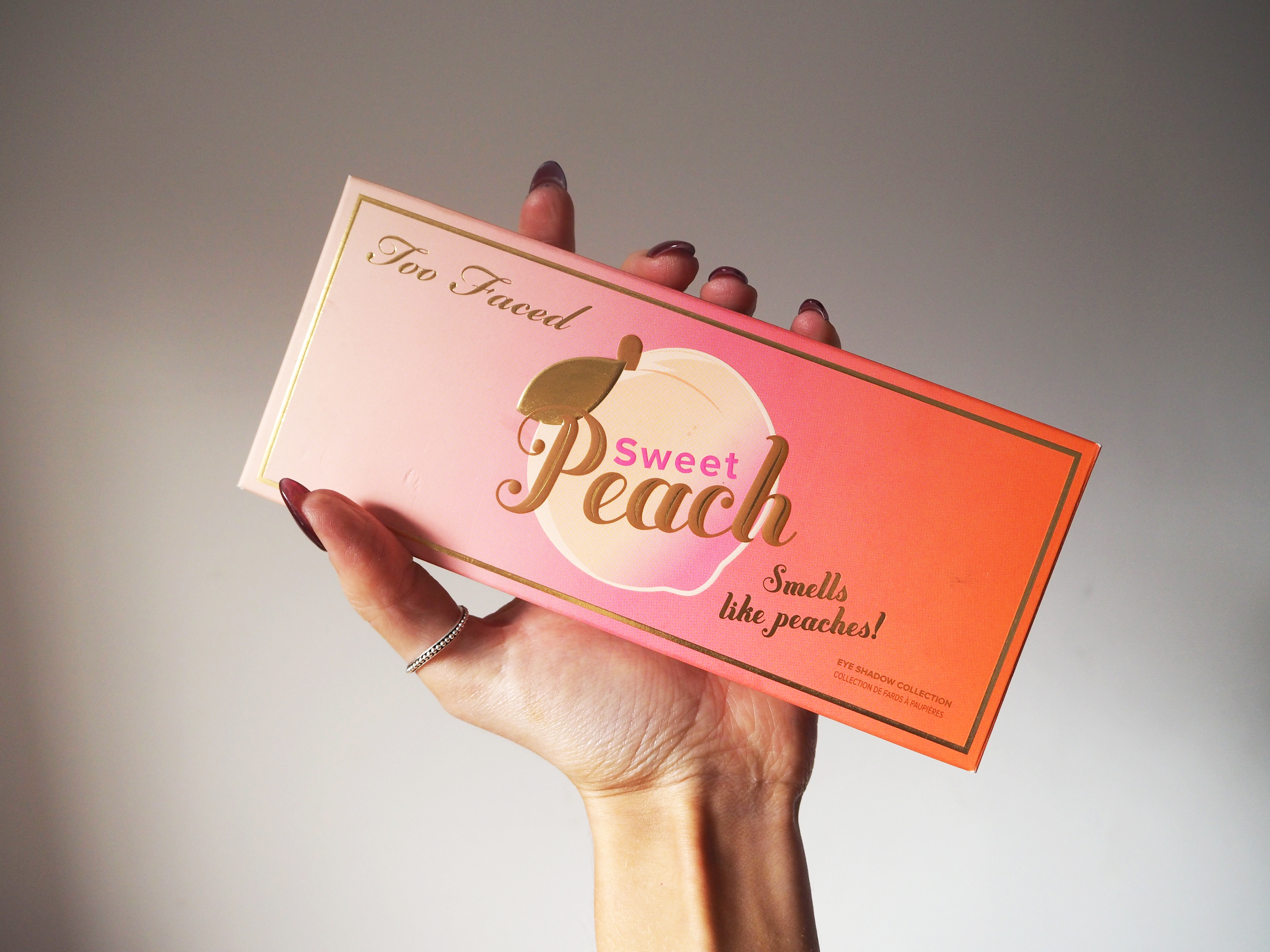 Too Faced Sweet Peach Palette Swatches and Review