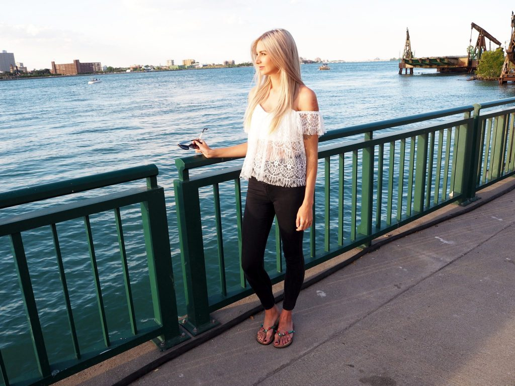 Manchester based lifestyle blogger laura kate lucas - outfit post featuring boohoo lace bardot top