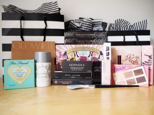 Sephora makeup and beauty haul - Anastasia Beverly Hills , benefit, kat von d, too faced, taste, buxom, becca, jose maran