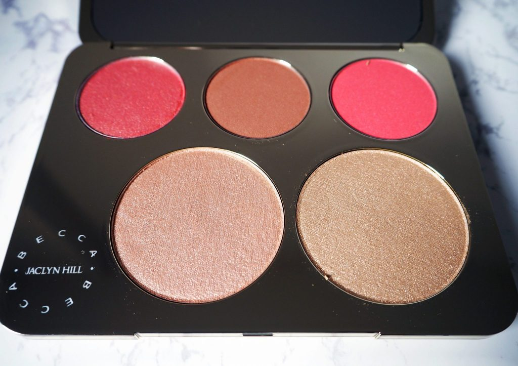Jaclyn Hill X Becca Champagne Collection face pallet swatches and review