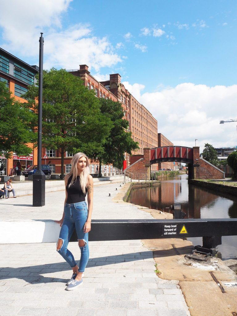 Manchester fashion blogger outfit post - Lasula Jeans and Topshop Bodysuit