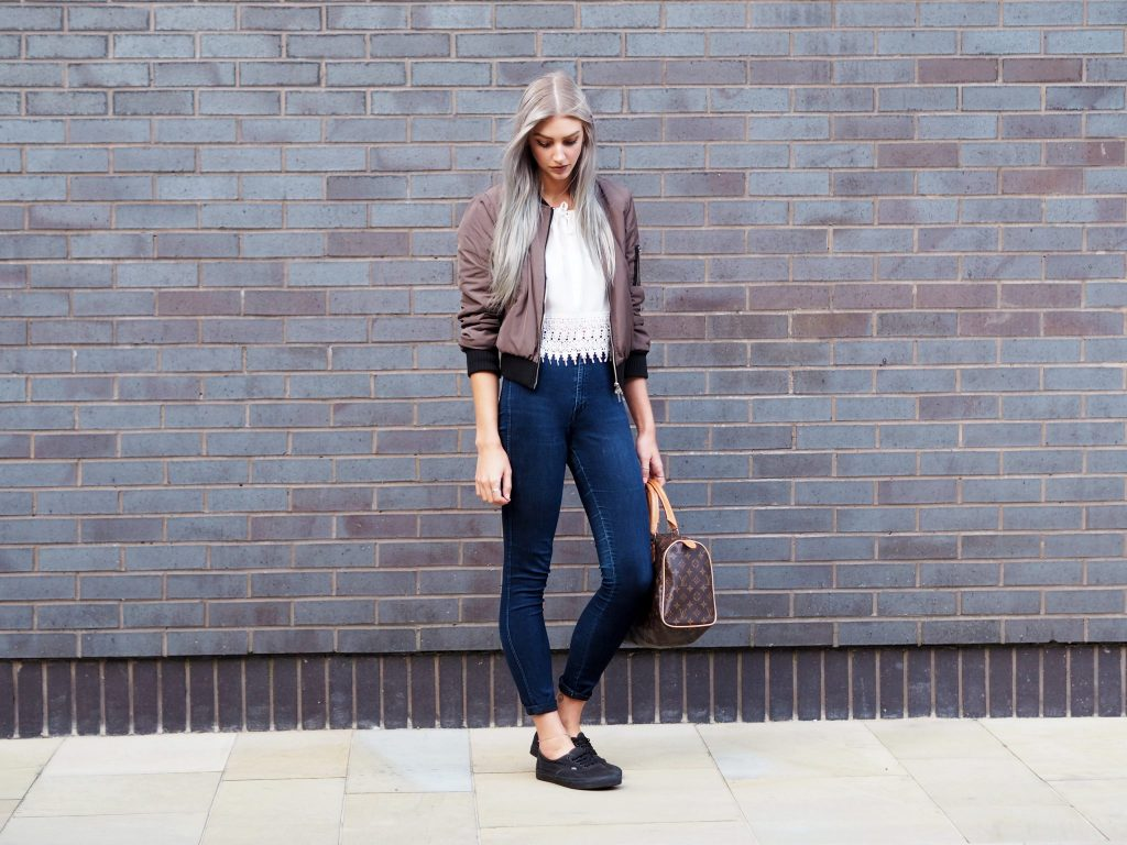 Laura Kate Lucas - Manchester Fashion and Lifestyle Blogger | Outfit Post featuring Boohoo Bomber Jacket