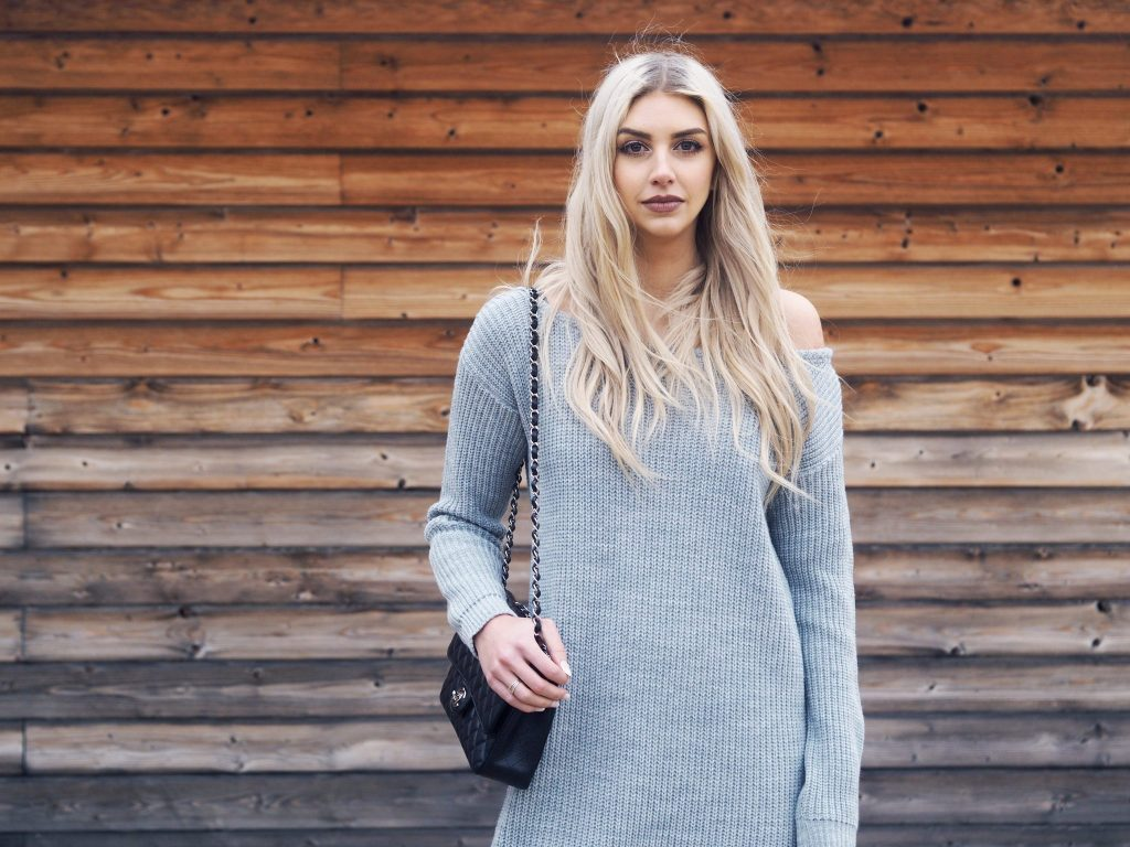 Laura Kate Lucas - Manchester based Fashion and Lifestyle Blogger | Outfit Blog Post featuring Misguided Jumper Dress, Public Desire Boots, Chanel Classic Flap