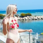 Laura Kate Lucas - Manchester Fashion and Lifestyle Blogger | Pretty Little Thing Nude Mesh Rose Embroidered Swimsuit Outfit Post