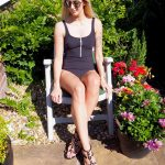 Laura Kate Lucas - Manchester Fashion, Lifestyle and Fitness Blogger | UK Swimwear Anita Rosa Faia Black Zip Swimsuit