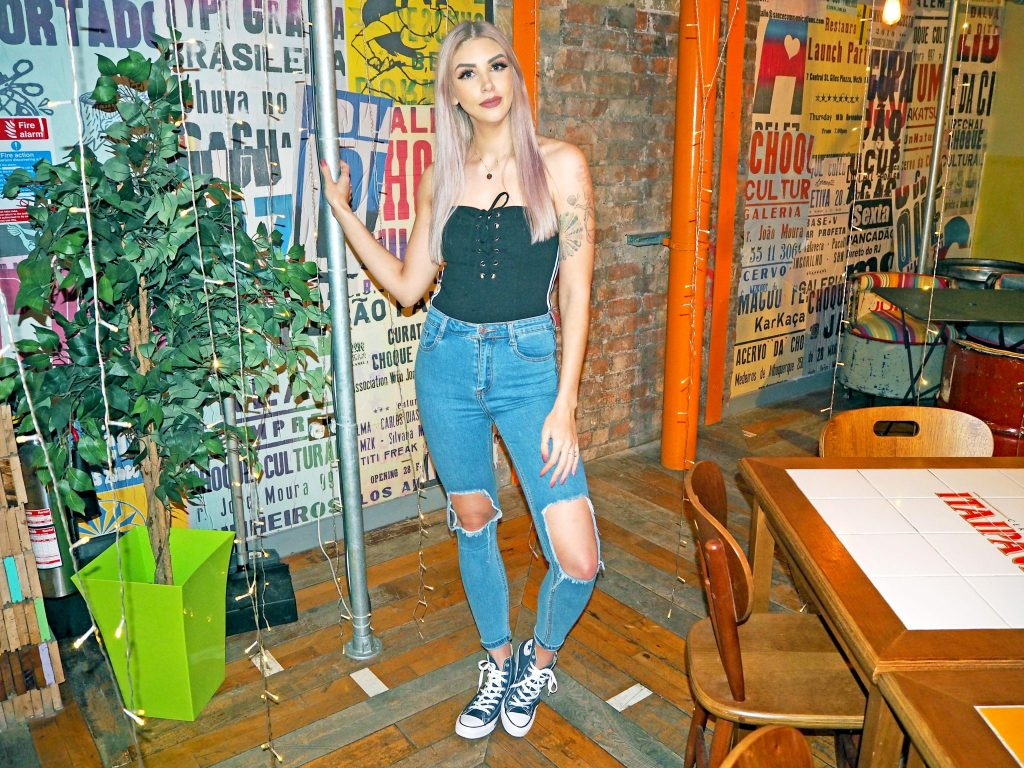 Laura Kate Lucas - Manchester Fashion, Lifestyle and Fitness Blogger   Tobi Collaboration Outfit Lace Up Strapless Bodysuit