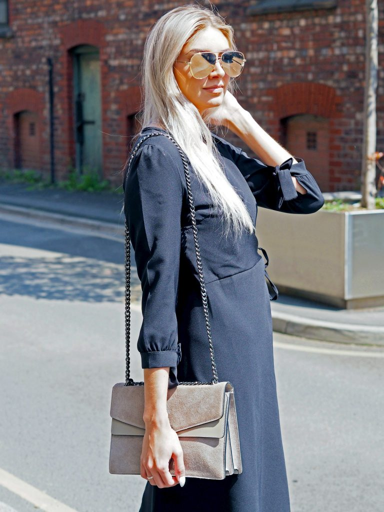 Laura Kate Lucas - Manchester Fashion, Lifestyle and Travel Blogger | She Is Rebel Black Wrap Dress Outfit