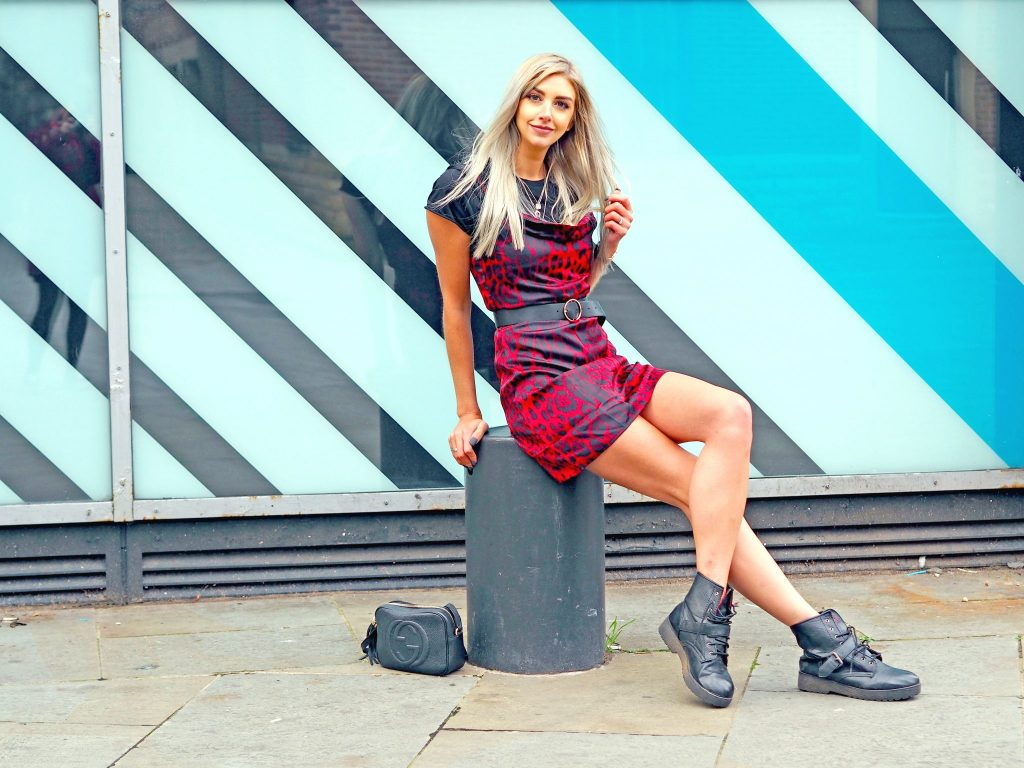 Laura Kate Lucas - Manchester Fashion, Travel and Lifestyle Blogger   Styling Dresses for Winter with Boohoo - Red Leopard Print Cowl Neck Slip Dress