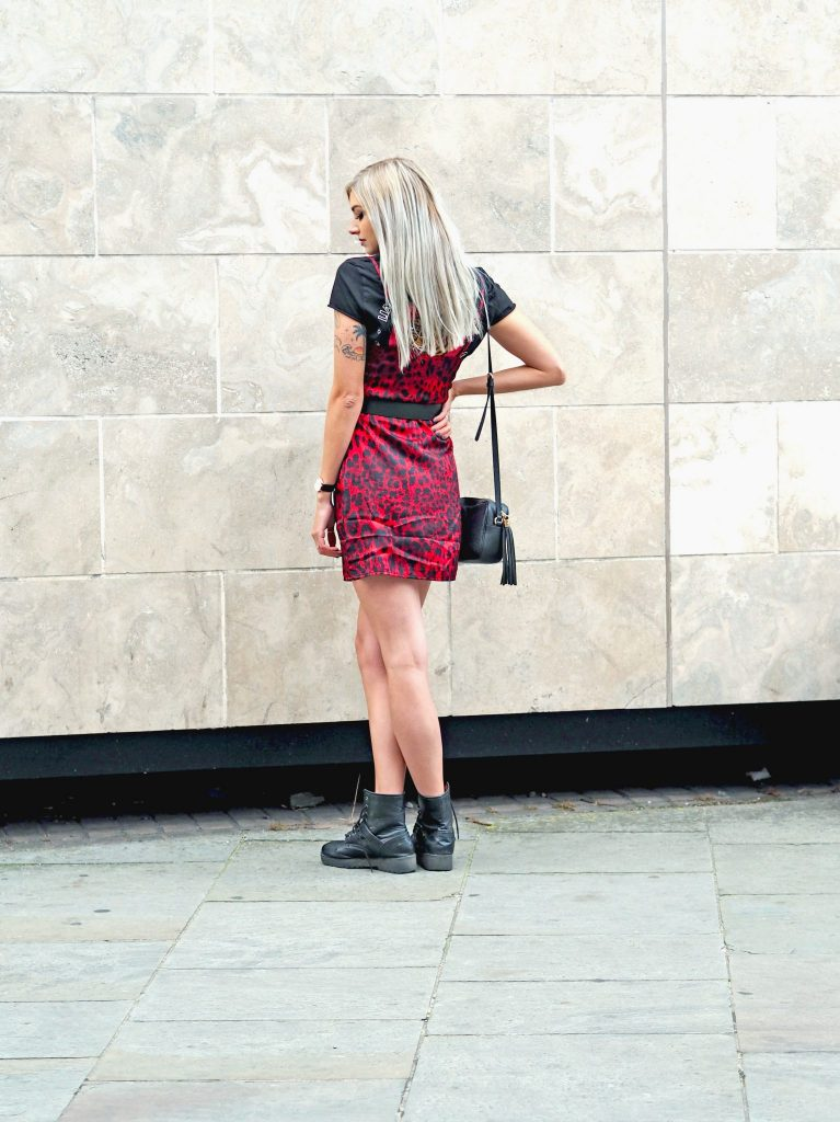 Laura Kate Lucas - Manchester Fashion, Travel and Lifestyle Blogger | Styling Dresses for Winter with Boohoo - Red Leopard Print Cowl Neck Slip Dress