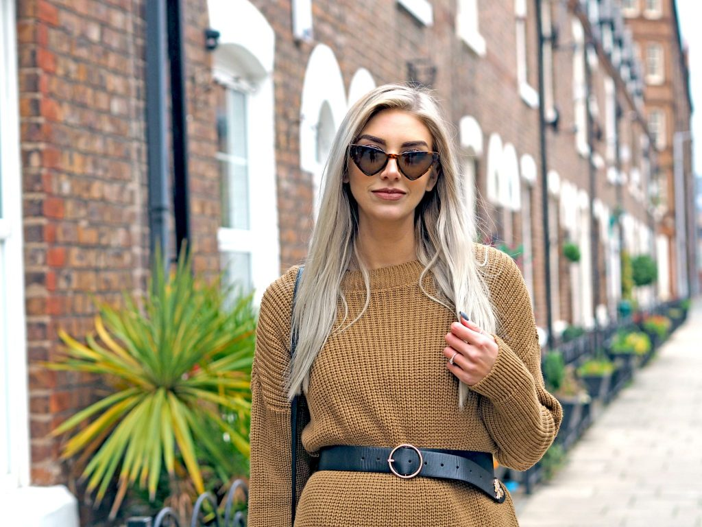 Laura Kate Lucas - Manchester Fashion, Style and Travel Blogger | Boohoo Collaboration - Styling Dresses for Winter - Camel Jumper Dress