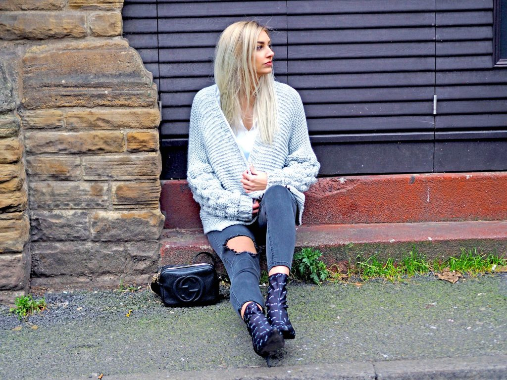 Laura Kate Lucas - Manchester Fashion, Lifestyle and Travel Blogger | Fredafunk Chunky Bobble Sleeve Cardigan and Leopard Pocket Shirt