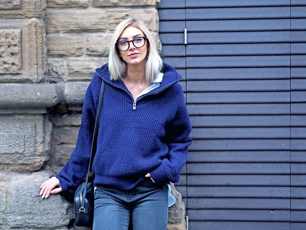 Laura Kate Lucas - Manchester Fashion, Lifestyle and Travel Blogger | NA-KD Zip Sweater and Monogram Boots Outfit