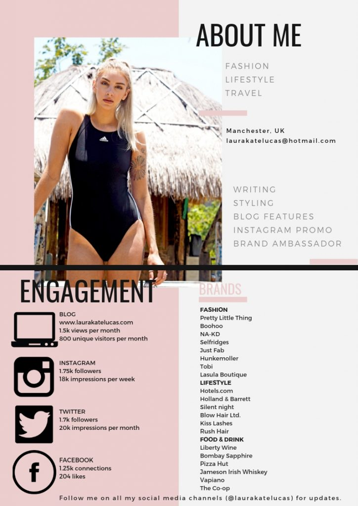Laura Kate Lucas - Manchester Fashion, Travel and Lifestyle Blogger | Media Kit