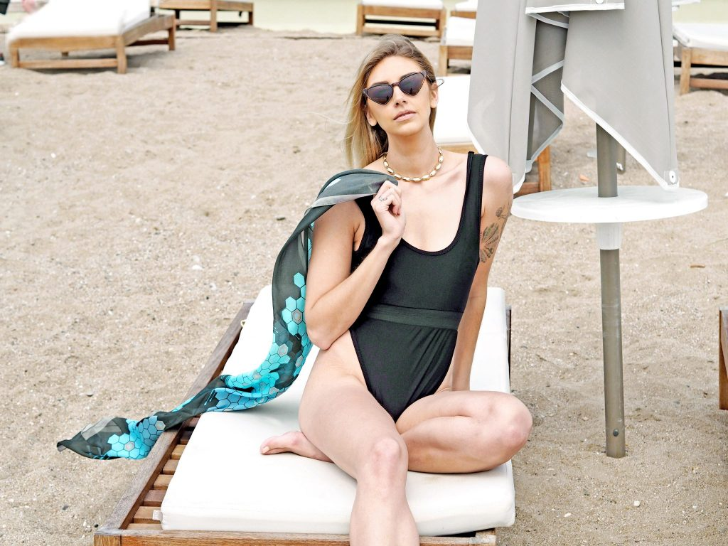 Laura Kate Lucas - Manchester Fashion Travel and Style Blogger   Zana Scarf Beach Swimwear Outfit