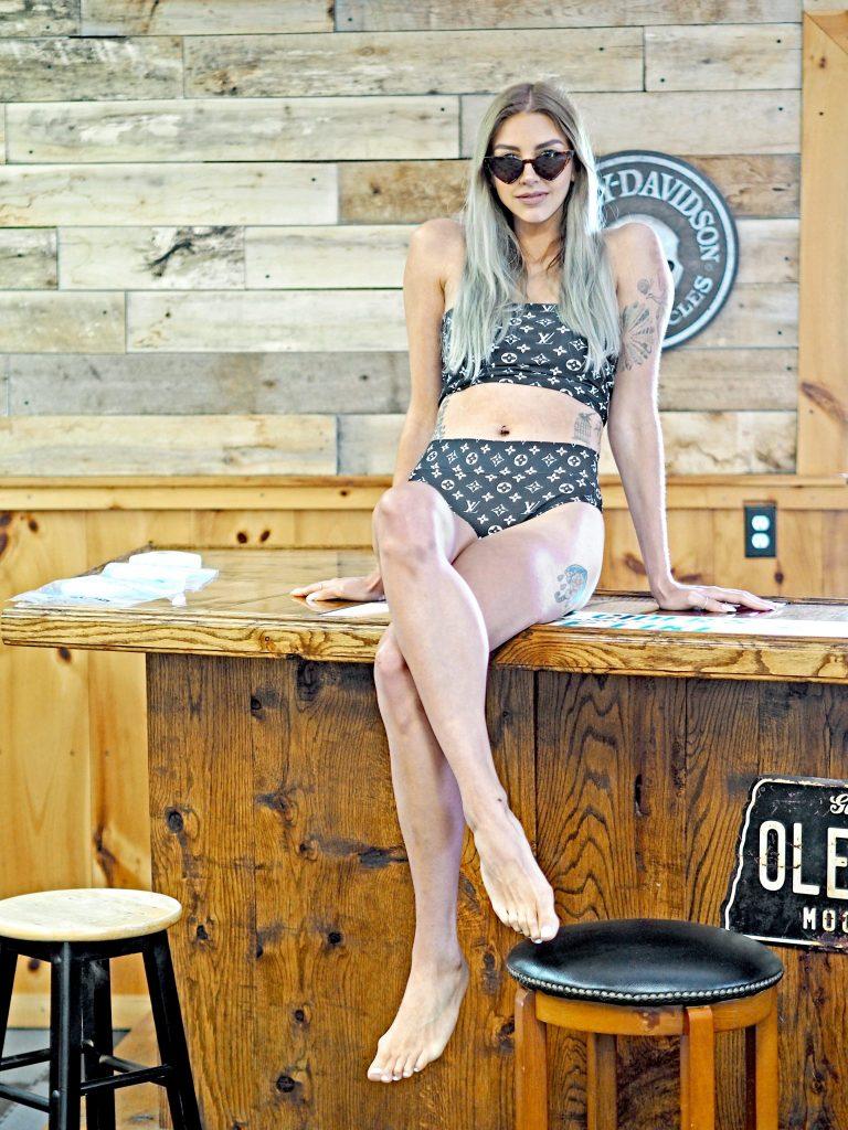 Laura Kate Lucas - Manchester Fashion, Travel and Lifestyle Blogger   Fency Boutique LV Louis Vuitton Style Bikini
