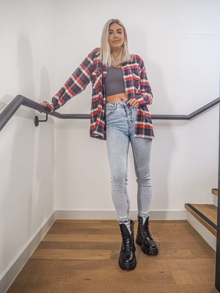 Laura Kate Lucas - Manchester Fashion, Beauty and Lifestyle Blogger | Katch Me Autumn Winter Trends Checked Shirt