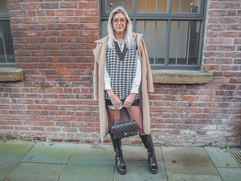 Laura Kate Lucas - Manchester Fashion and Lifestyle Blogger   Femme Luxe Houndstooth Knitted Tank Top