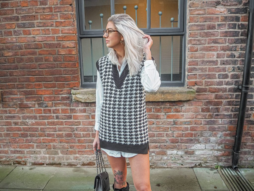 Laura Kate Lucas - Manchester Fashion and Lifestyle Blogger | Femme Luxe Houndstooth Knitted Tank Top