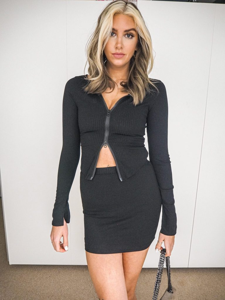 Laura Kate Lucas - Manchester Fashion, Lifestyle and Beauty Blogger   Femme Luxe Black Skirt Co-ord