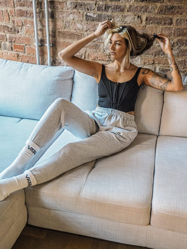 Laura Kate Lucas - Manchester Fasion, Lifestyle and Technology Blogger | Femme Luxe Finery Joggers and Corset Outfit