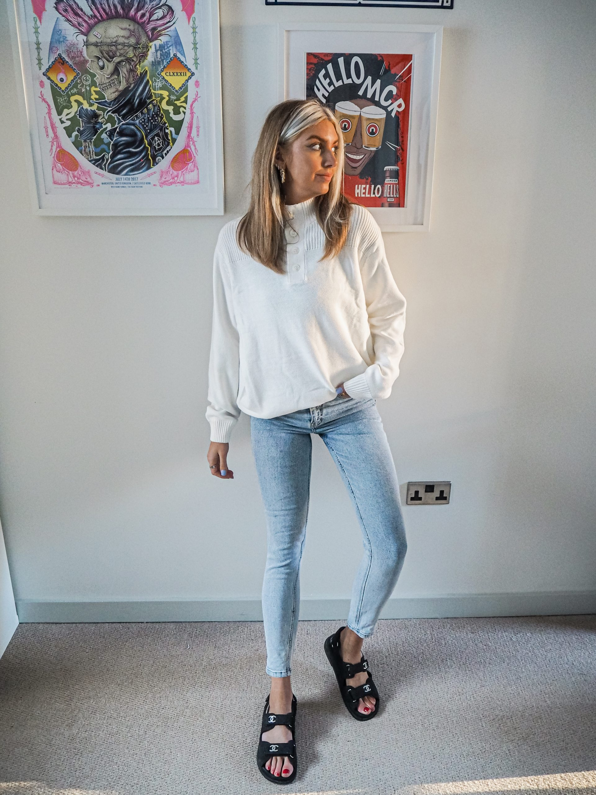Laura Kate Lucas - Manchester Fashion, Lifestyle and Outfit Blogger | Everything5Pounds Spring Knit White Sweater
